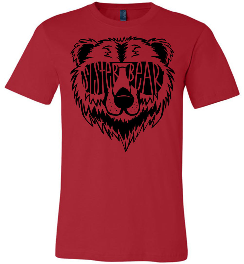 Sister Bear Shirt red