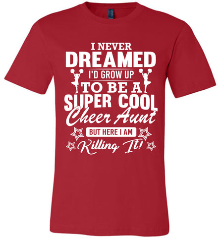 Super Cool Cheer Aunt Shirts red