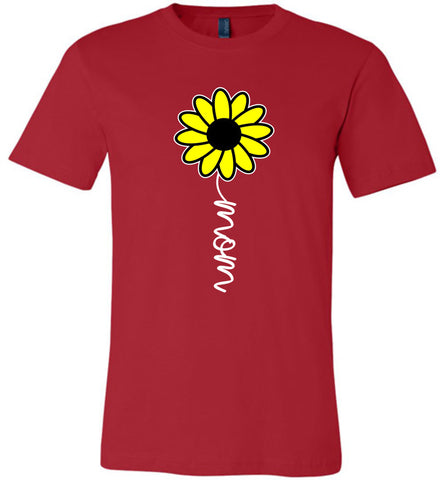 Image of Sunflower Mom Shirt red