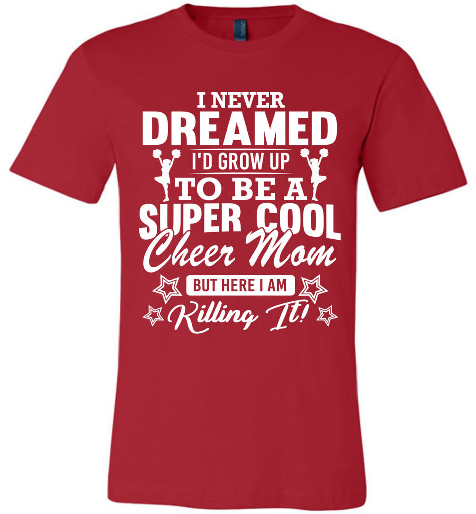 Super Cool Cheer Mom Shirts red