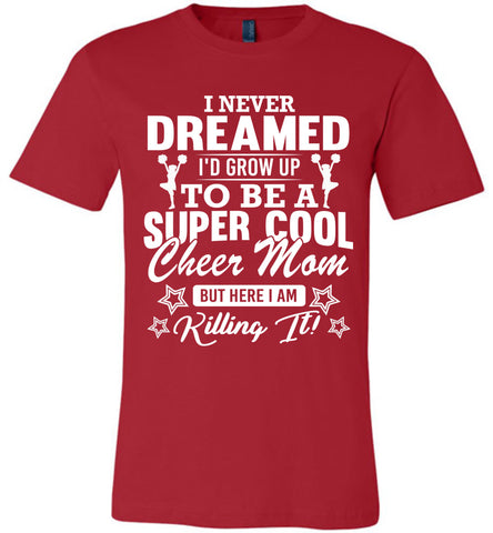Image of Super Cool Cheer Mom Shirts red