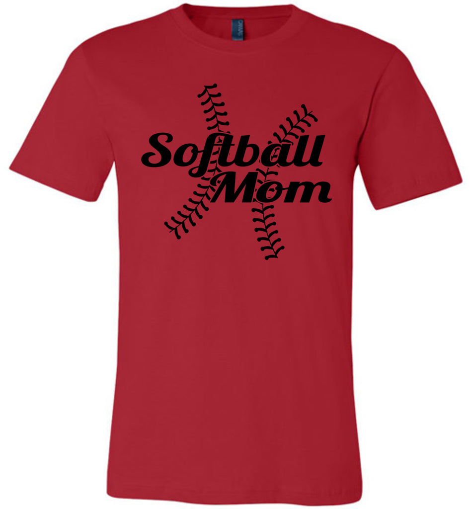 Softball Mom Shirts red