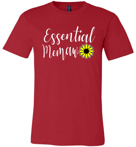 Essential Memaw Shirt red