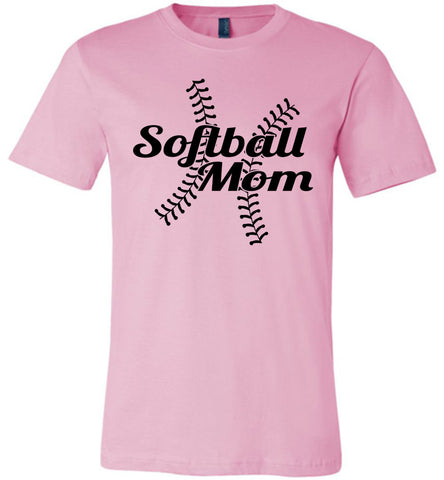 Image of Softball Mom Shirts pink