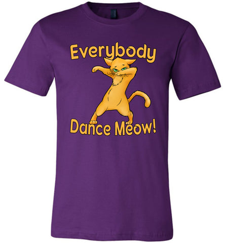 Image of Everybody Dance Meow Funny Dance Shirts team purple