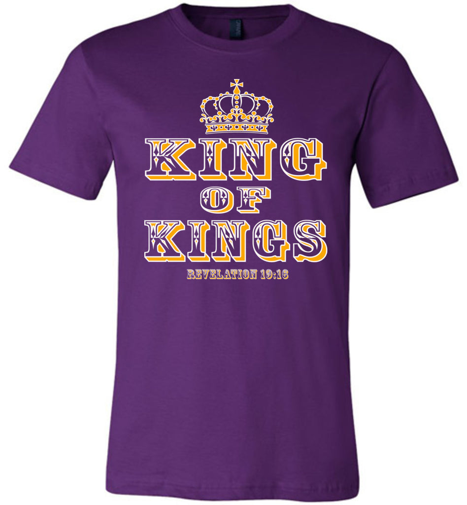 King Of Kings Christian T-Shirts purple