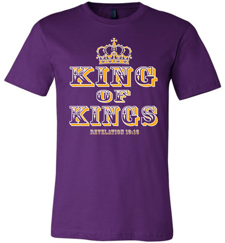 Image of King Of Kings Christian T-Shirts purple
