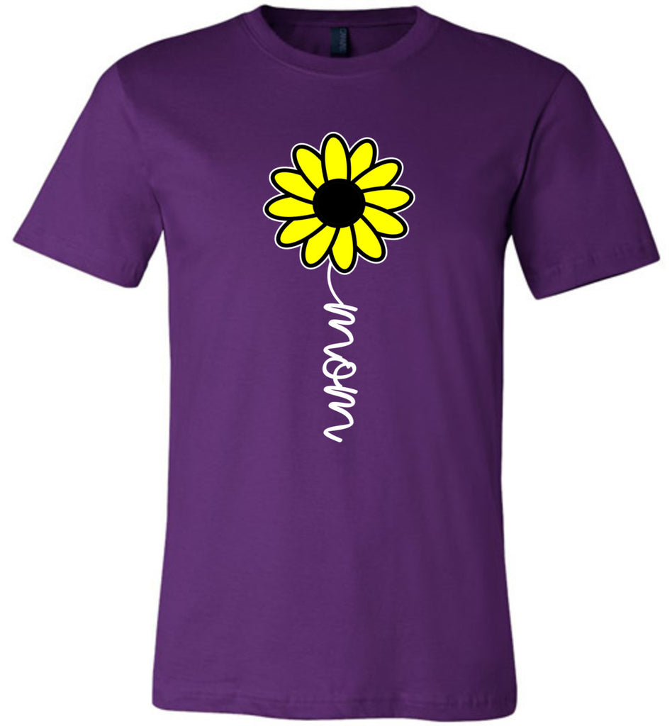 Sunflower Mom Shirt purple