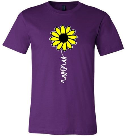 Image of Sunflower Mom Shirt purple