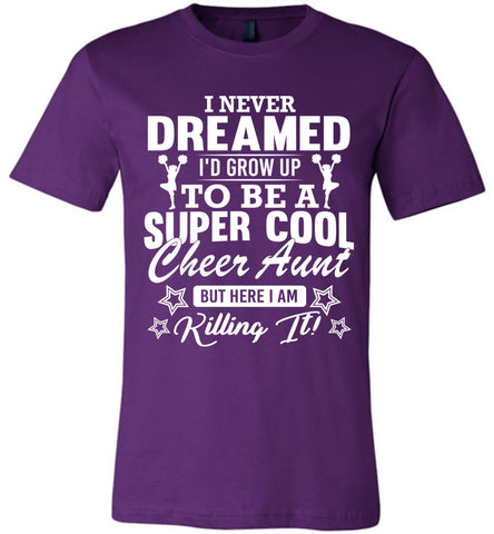 Super Cool Cheer Aunt Shirts team purple