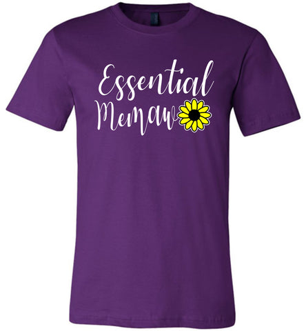 Essential Memaw Shirt purple