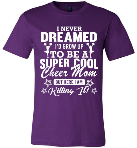 Super Cool Cheer Mom Shirts purple