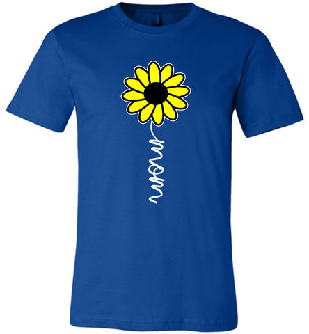 Image of Sunflower Mom Shirt royal