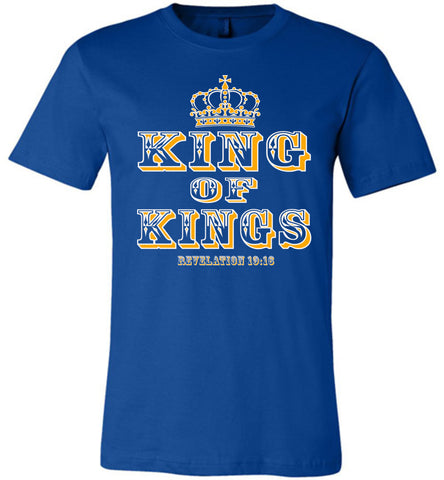 Image of King Of Kings Christian T-Shirts royal