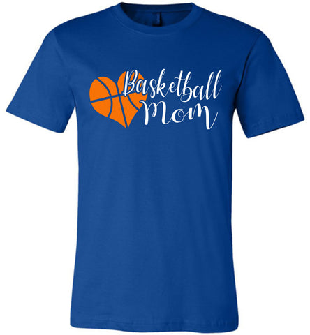 Basketball Mom T Shirts unisex royal
