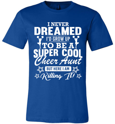 Image of Super Cool Cheer Aunt Shirts true royal