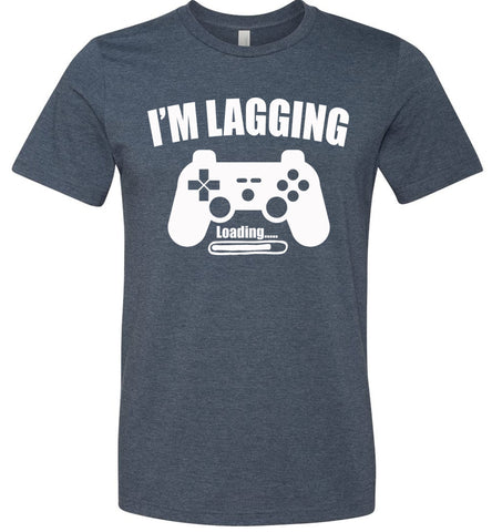 Image of I'm Lagging Gamer Shirts For Guys & Girls funny gamer t shirts navy