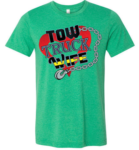 Tow Truck Wife Shirts heatherd kelly