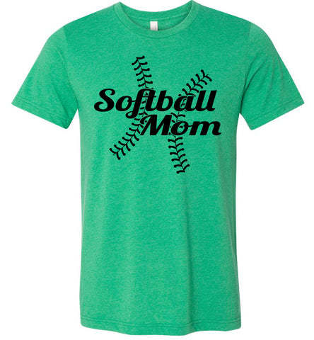 Image of Softball Mom Shirts heather kelly