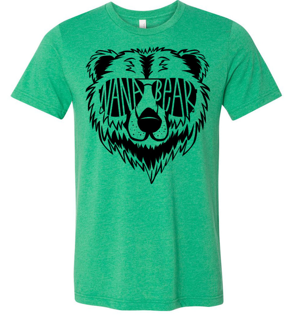 Nana Bear Shirt heather kelly green
