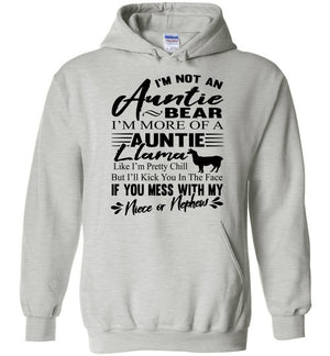 I'm Not An Auntie Bear I'm More Of An Auntie Llama Hoodie ash