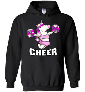 Unicorn Cheer Hoodies black
