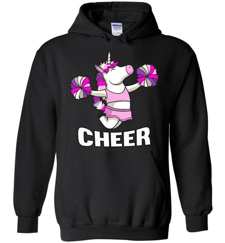 Image of Unicorn Cheer Hoodies black