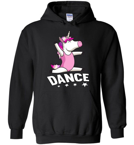 Image of Unicorn Dance Hoodies For Girls black