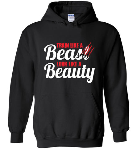 Train Like A Beast Look Like A Beauty Gymnastics Hoodie | Cheer Hoodie | Dance Hoodie black