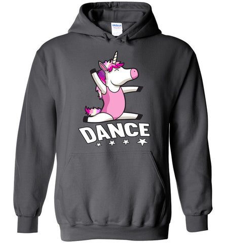 Unicorn Dance Hoodies For Girls charcoal