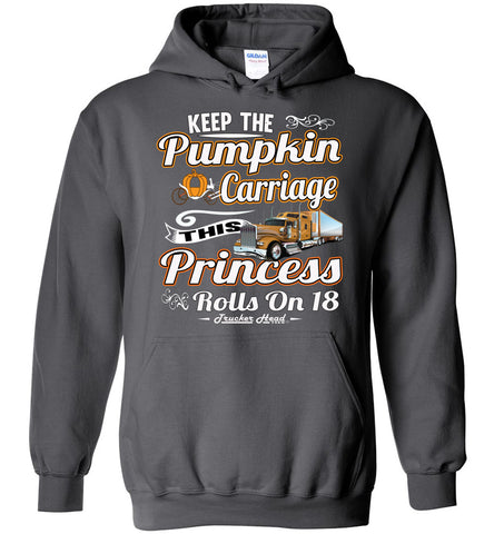 Image of Keep The Pumpkin Carriage Women's Trucker Hoodie charcoal