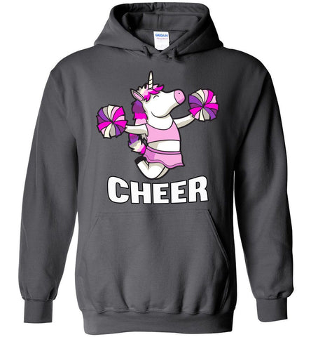 Unicorn Cheer Hoodies charcoal