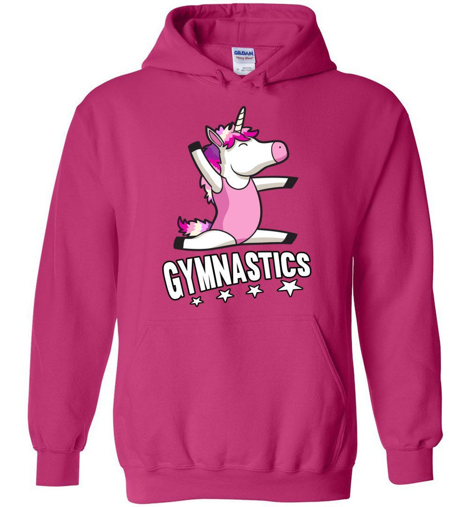 Unicorn Gymnastics Hoodie For Girls pink