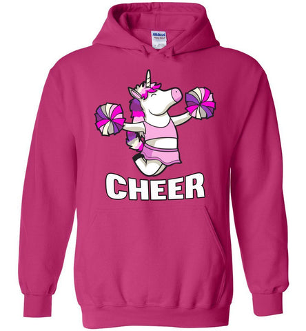 Unicorn Cheer Hoodies pink