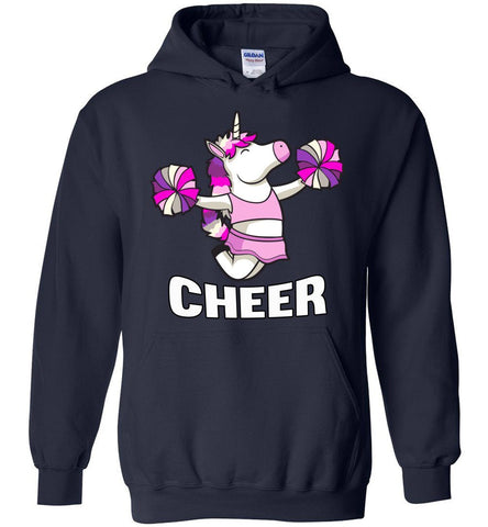Unicorn Cheer Hoodies navy