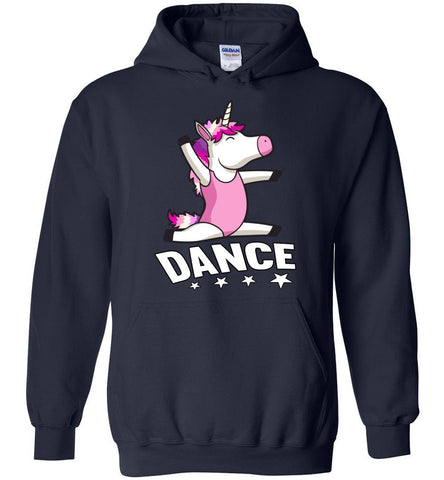 Image of Unicorn Dance Hoodies For Girls navy