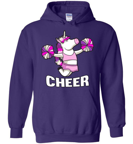 Unicorn Cheer Hoodies purple