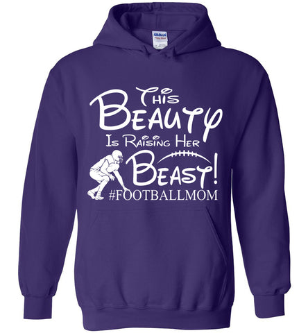 This Beauty Is Raising Her Beast Football Mom Hoodies purple