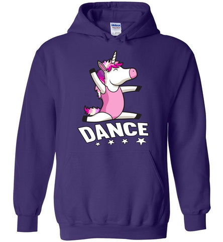 Image of Unicorn Dance Hoodies For Girls purple
