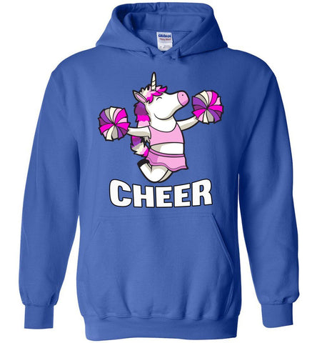 Unicorn Cheer Hoodies royal