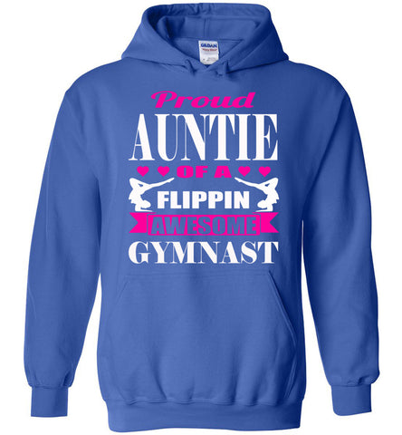 Proud Auntie Of A Flippin Awesome Gymnast Aunt Hoodie royal