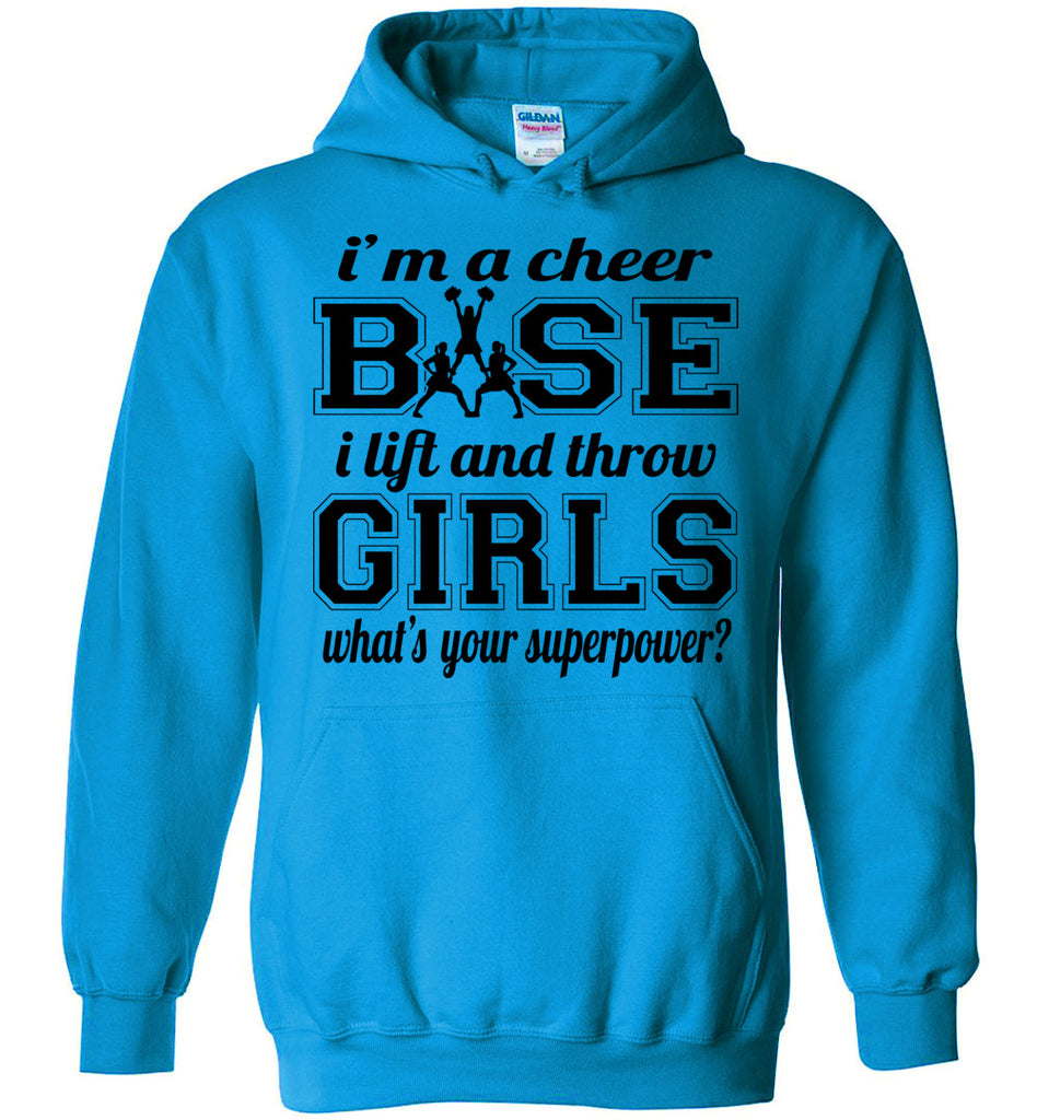 I'm A Cheer Base Funny Cheer Base Hoodies blue