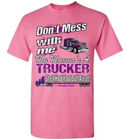 Image of Don't Mess With Me My Momma's A Trucker Kid's Trucker Tee ypk