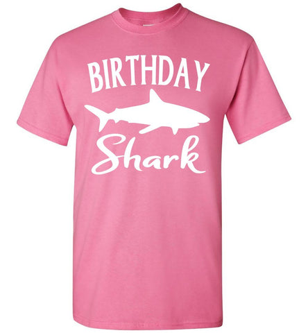 Image of Birthday Shark Shirt unisex pink