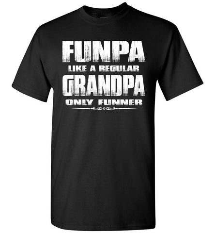 Image of Funpa Funny Grandpa Shirts black