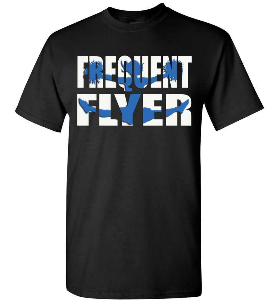 Frequent Flyer Cheer Flyer T Shirt - Blue youth black