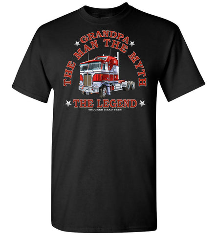 Image of Grandpa The Man The Myth The Legend Trucker Shirt black
