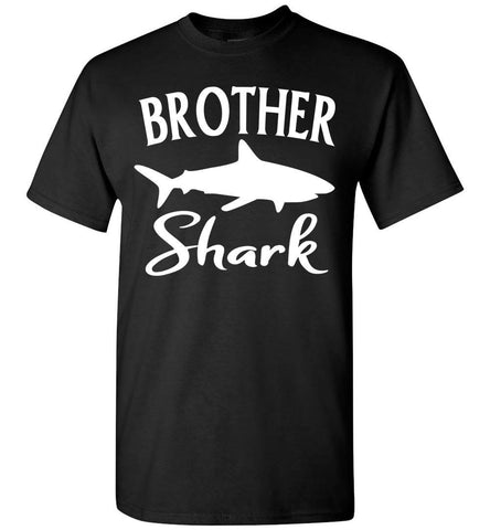 Image of Brother Shark Shirt unisex black