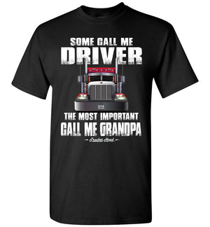 Some Call Me Driver Trucker Grandpa Shirt black