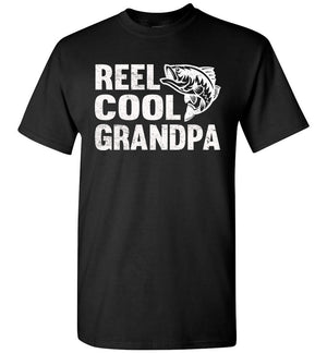 Reel Cool Grandpa Fishing Shirt black